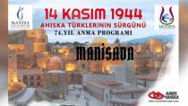Manisada Sürgünü anma Programı