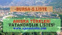 Ahıska Türkleri Vatandaşlık Bursa 5.Liste
